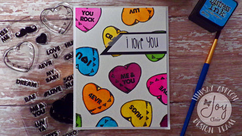 Candy Hearts Clear Stamps