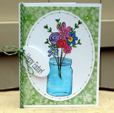 Doodle Flowers Clear Stamps