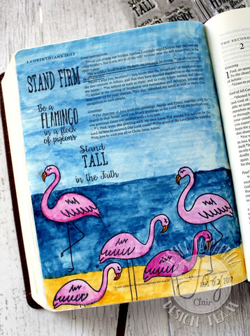 Be a Flamingo | Bible Journaling Clear Stamps