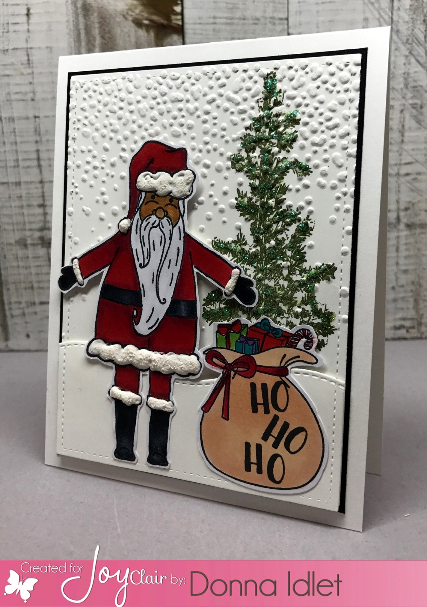 Clear Stamps - Holly Jolly Santa Clear Stamp - Joy Clair - 2