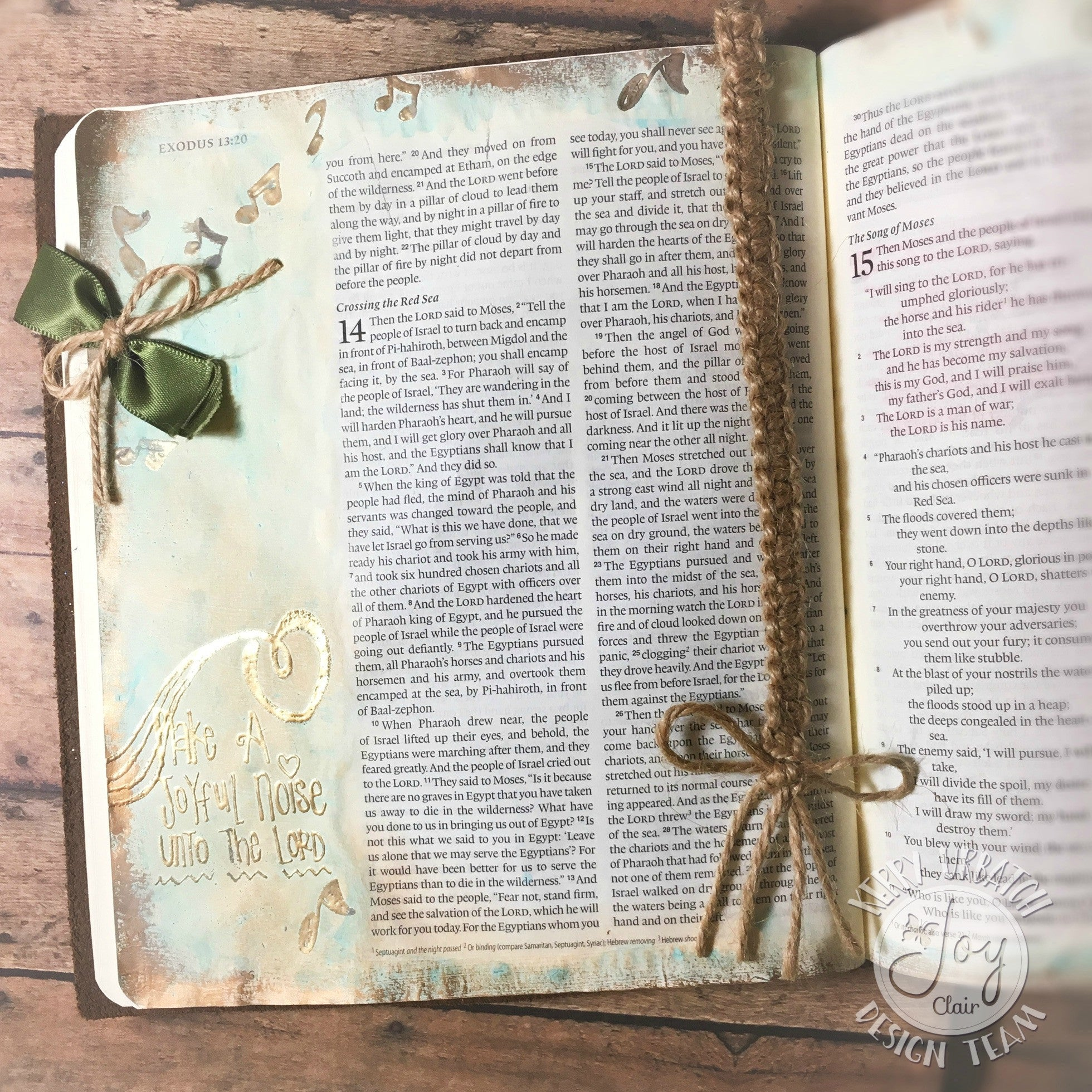 Clear Stamps - Joyful Noise | Bible Journaling Clear Stamps - Joy Clair - 9