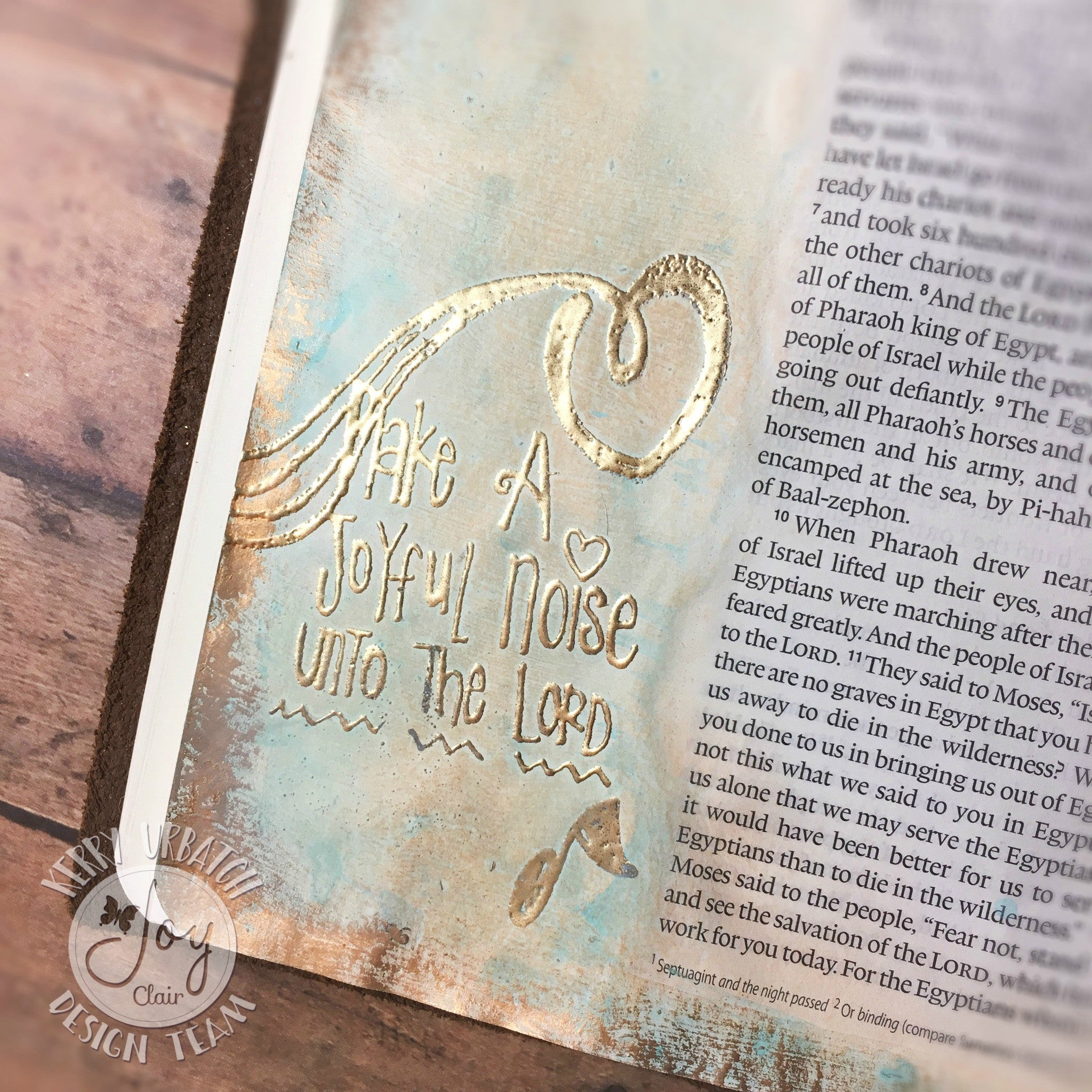 Clear Stamps - Joyful Noise | Bible Journaling Clear Stamps - Joy Clair - 8