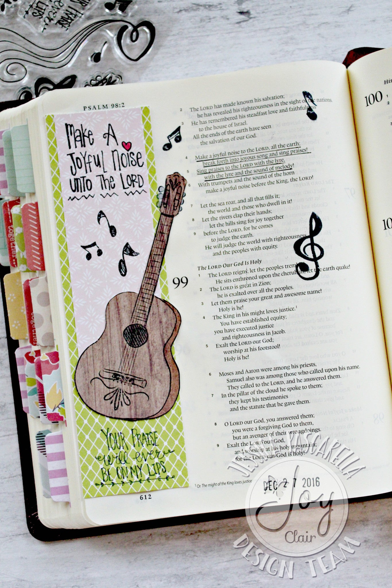 Clear Stamps - Joyful Noise | Bible Journaling Clear Stamps - Joy Clair - 4