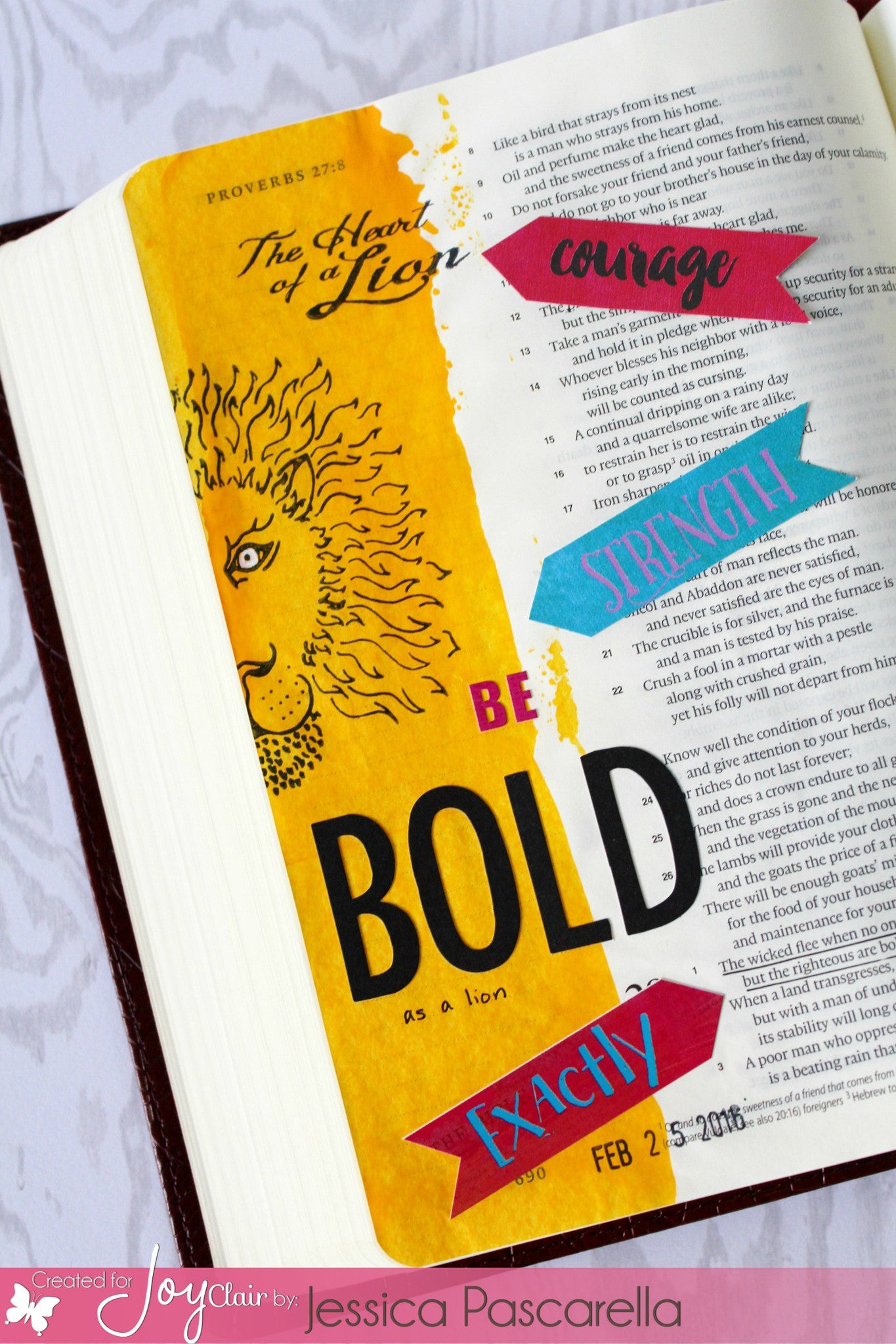 Clear Stamps - Lion and Lamb | Bible Journaling Clear Stamps - Joy Clair - 3