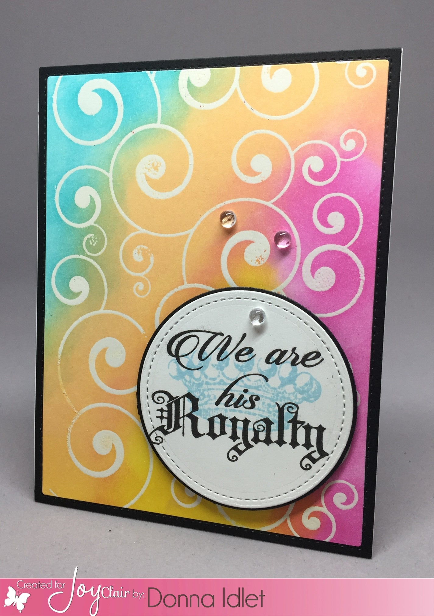 Lovely Swirl Background Clear Stamps - Joy Clair - 5