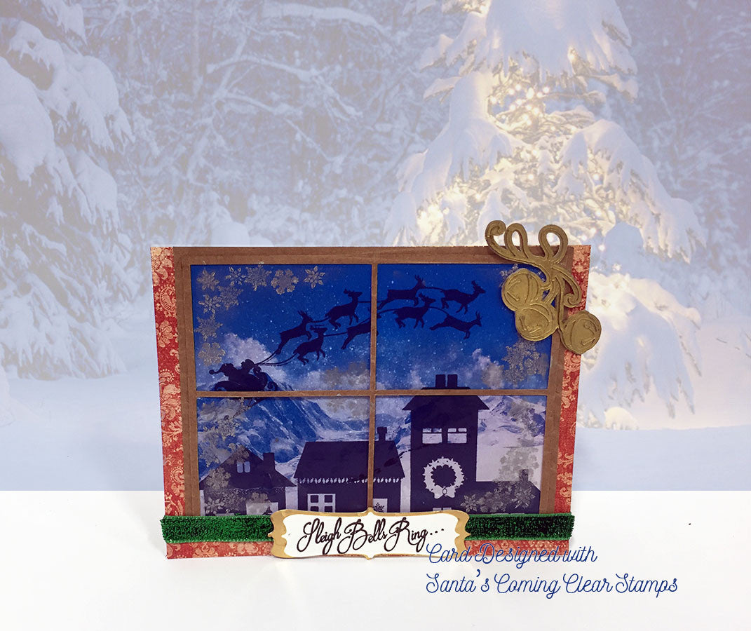 Santa's Coming Clear Stamp Christmas Set - Joy Clair - 5