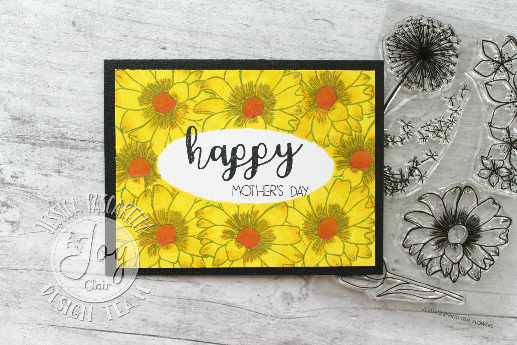 Spring Time Flowers Clear Stamps