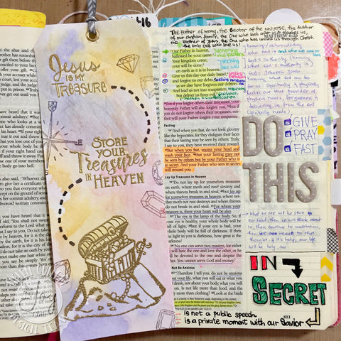 God's Treasure | Bible Journaling Clear Stamps