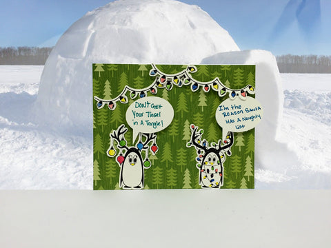 Christmas Penguins Clear Stamps