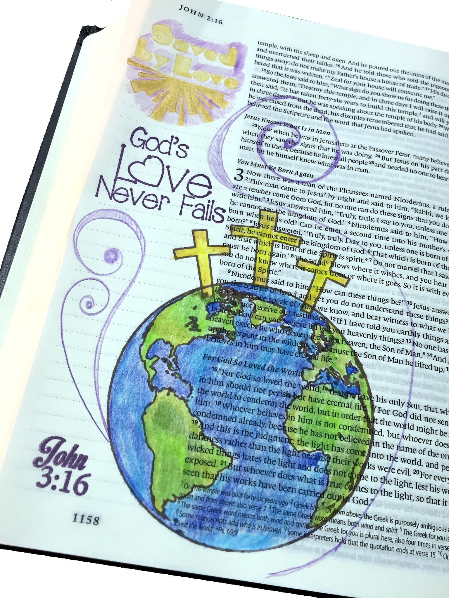 Clear Stamps - John 3:16 | Bible Journaling Clear Stamps - Joy Clair - 2