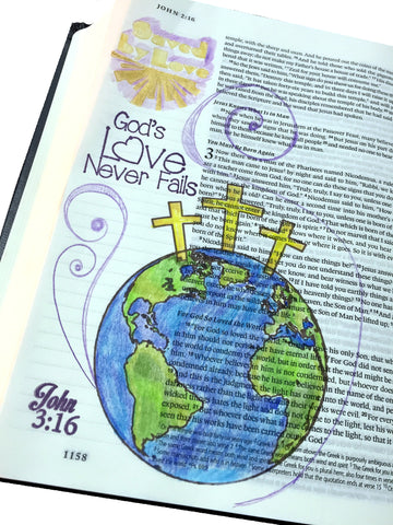 John 3:16 | Bible Journaling Clear Stamps