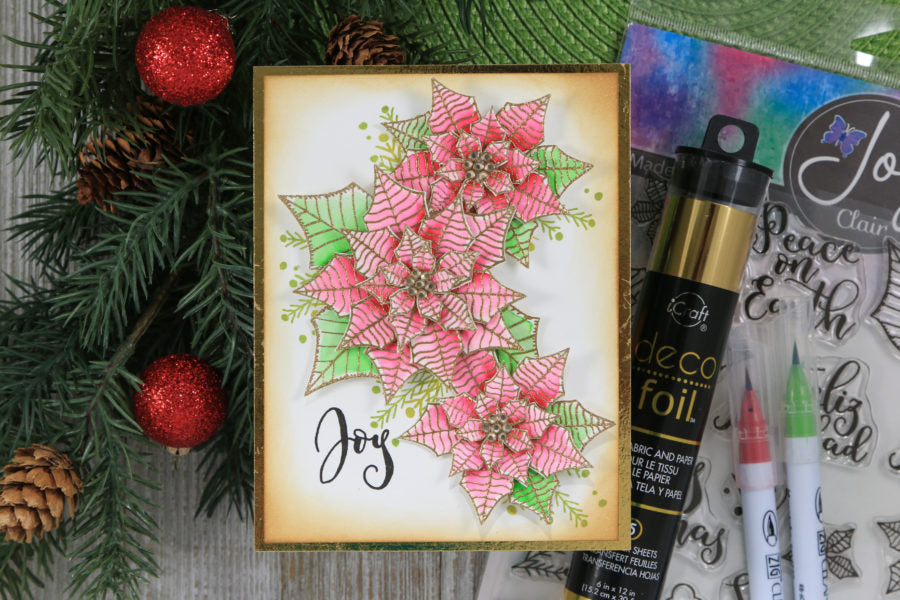 3D Christmas Poinsettia