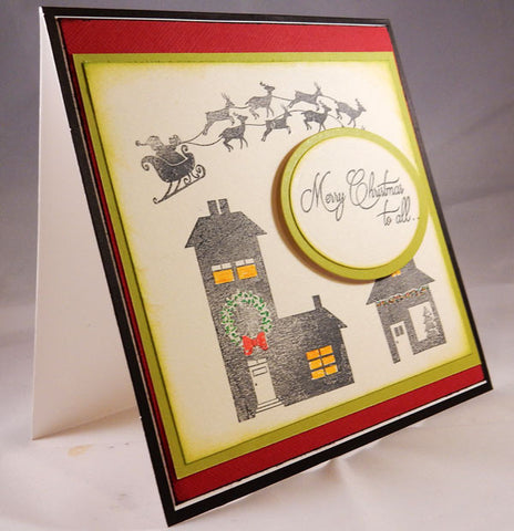 Santa's Coming Clear Stamp Christmas Set
