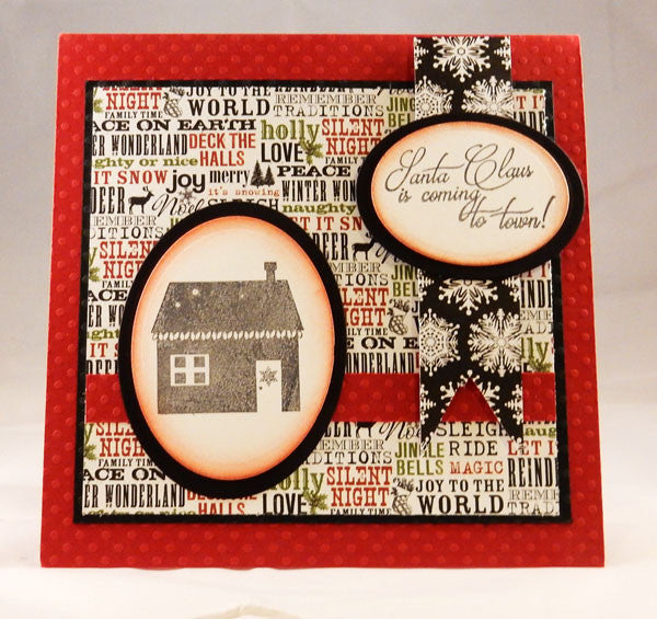 Santa's Coming Clear Stamp Christmas Set - Joy Clair - 2