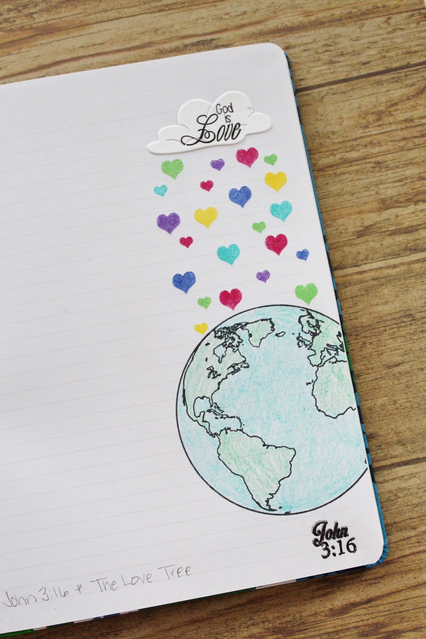 Clear Stamps - John 3:16 | Bible Journaling Clear Stamps - Joy Clair - 6