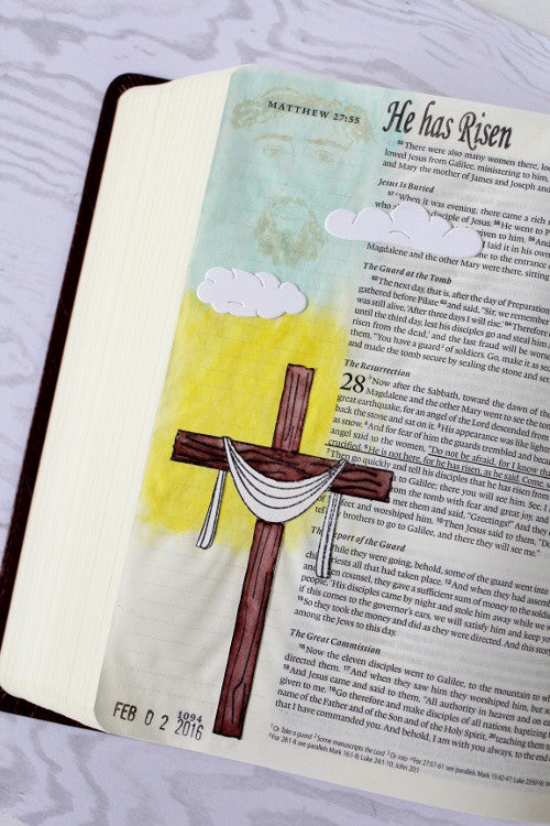 Clear Stamps - He has Risen | Bible Journaling Clear Stamps - Joy Clair - 3
