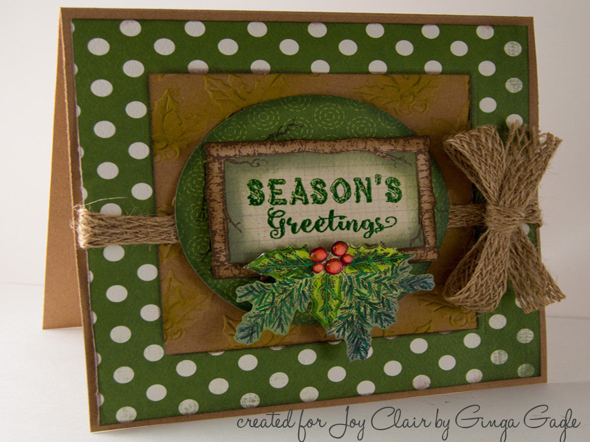 Rustic Christmas Sentiments Clear Stamps - Joy Clair - 4