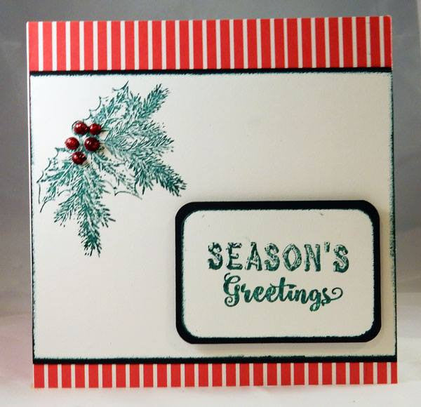 Rustic Christmas Sentiments Clear Stamps - Joy Clair - 5