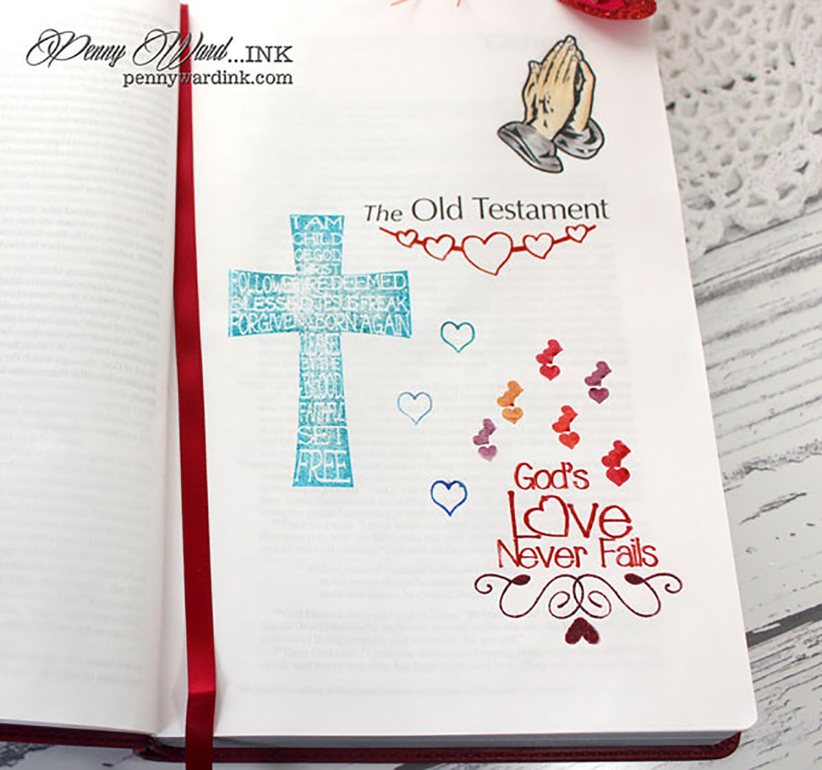 Clear Stamps - God's Love | Bible Journaling Clear Stamps - Joy Clair - 5