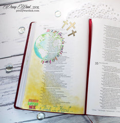 Clear Stamps - John 3:16 | Bible Journaling Clear Stamps - Joy Clair - 10