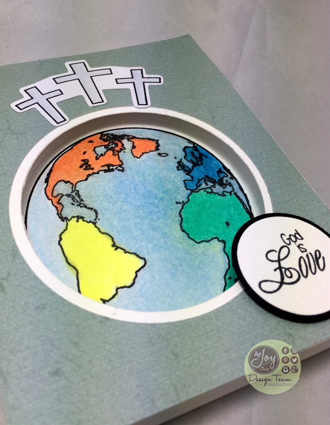 Clear Stamps - John 3:16 | Bible Journaling Clear Stamps - Joy Clair - 4