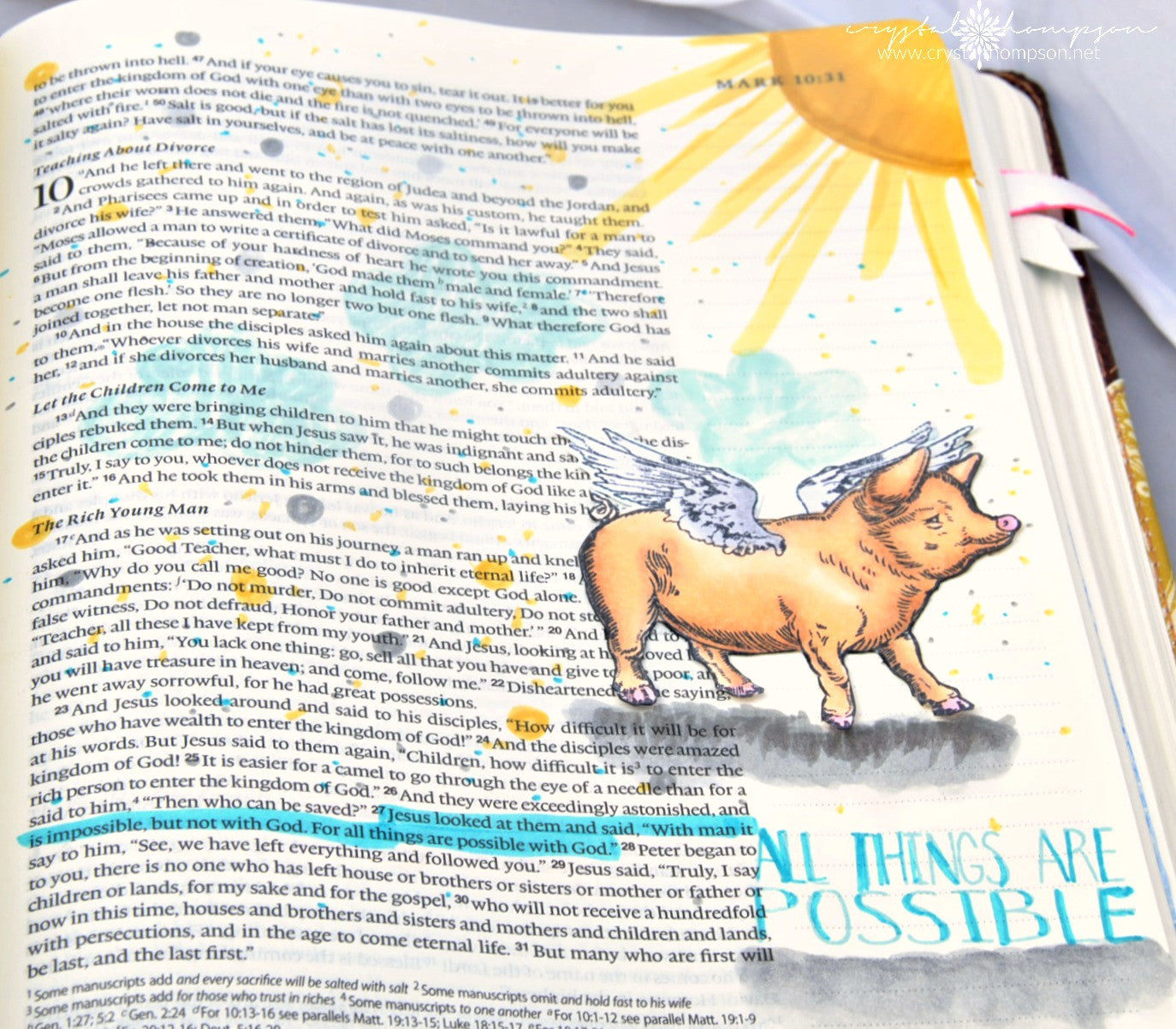 Clear Stamps - All Things Possible | Bible Journaling Clear Stamps - Joy Clair - 14