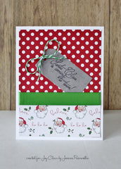 Santa's Coming Clear Stamp Christmas Set - Joy Clair - 8