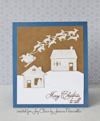 Santa's Coming Clear Stamp Christmas Set - Joy Clair - 10