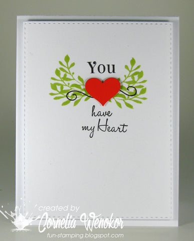 You and Me Sentiments Clear Stamps