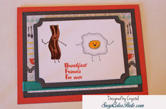 Breakfast Friends Forever Clear Stamps - Joy Clair - 5