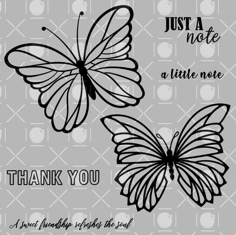Just Butterflies Digital Stamps