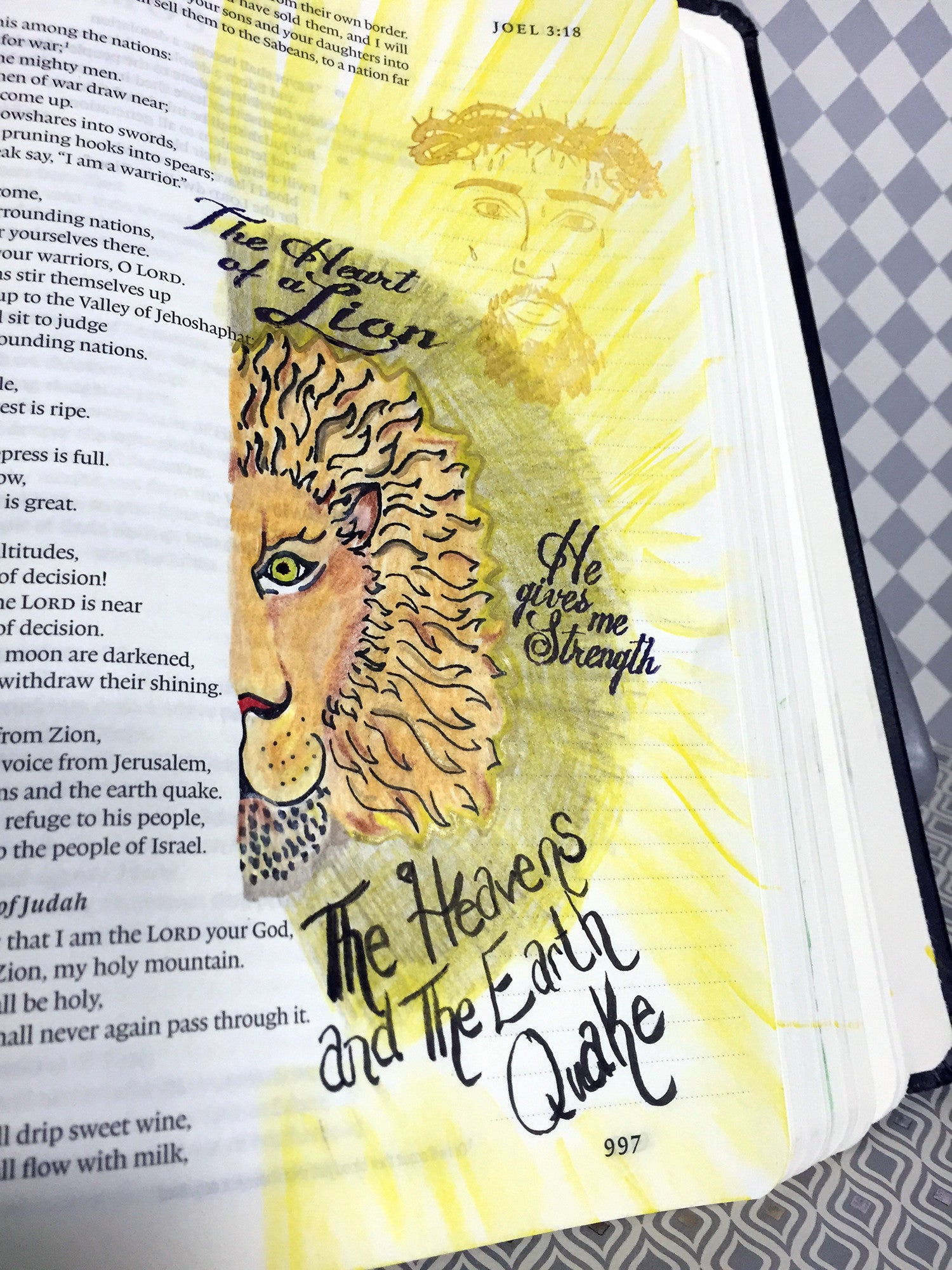 Clear Stamps - Lion and Lamb | Bible Journaling Clear Stamps - Joy Clair - 2