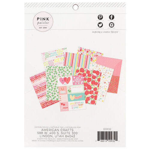 Lucky Us Collection Paper Pad 6 x 8 - Pink Paislee
