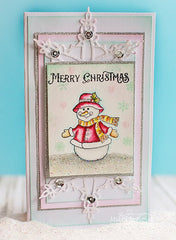 Cozy Snowman Wishes Clear Stamps - Joy Clair - 7