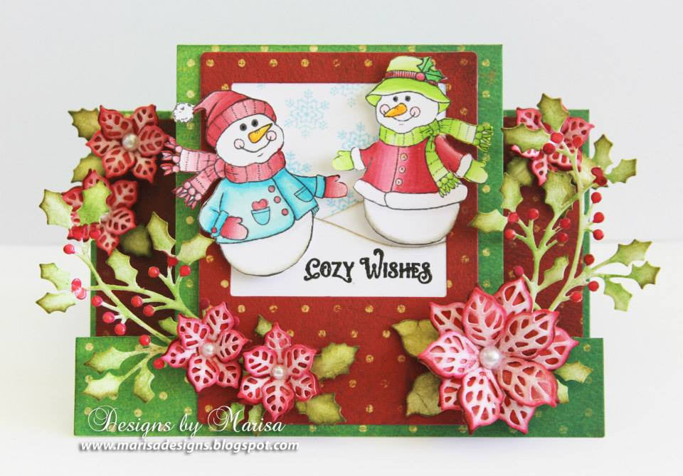 Cozy Snowman Wishes Clear Stamps - Joy Clair - 10