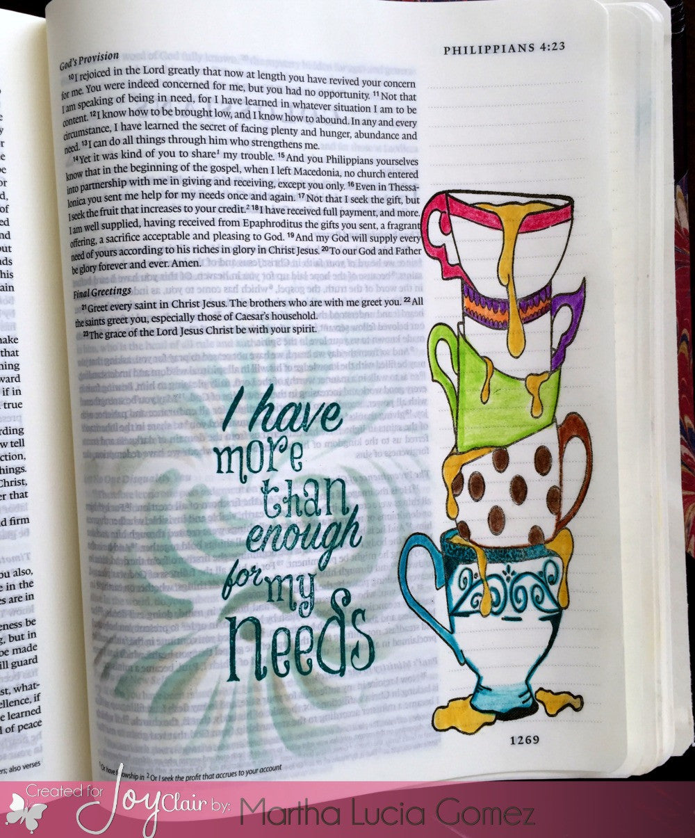 Clear Stamps - My Cup Runneth Over | BIble Journaling  Clear Stamps - Joy Clair - 2