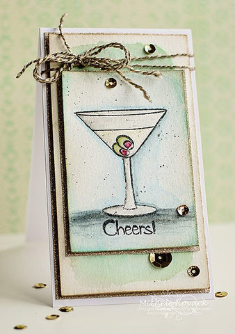 Raise Your Glass Clear Stamps