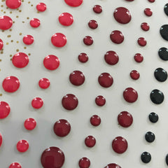 Poinsettia Glass Clear Enamel  Dots