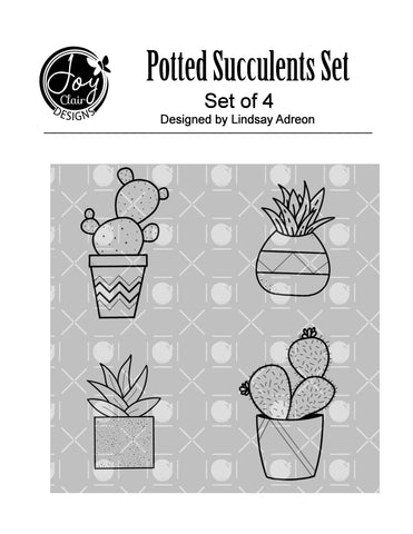 Potted Succulents Digital Set