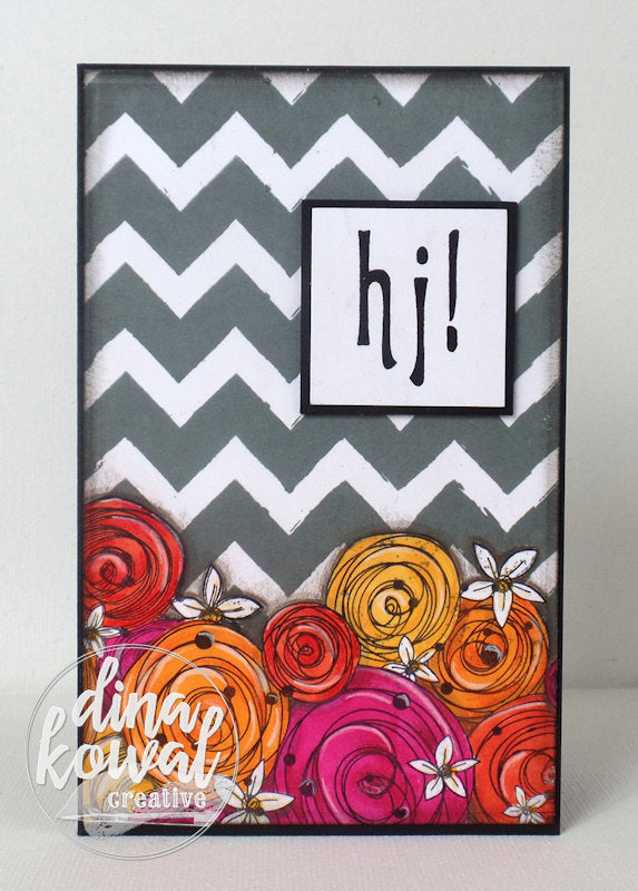 Sketchy Chevron Background Clear Stamps