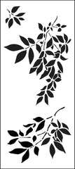 Slimline Gentle Leaves Stencil