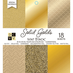 Solid Golds Mat Stack Paper Pad 6 x 6 - DCWV
