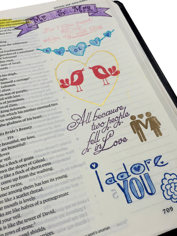 Song of Solomon | Bible Journaling Clear Stamps