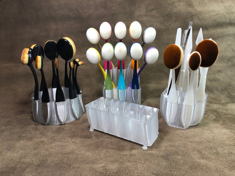 Peacock Blender Brush and Tool Caddy