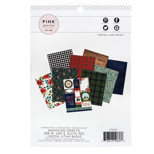 Together For Christmas Collection 6 x 8 Paper Pad - Pink Paislee