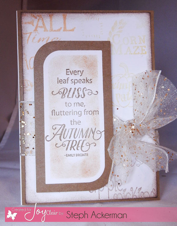 Fall Time Planner Clear Stamps - Joy Clair - 6