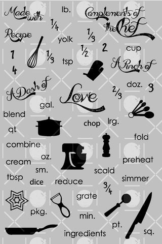 Baked With Love Clear Stamps