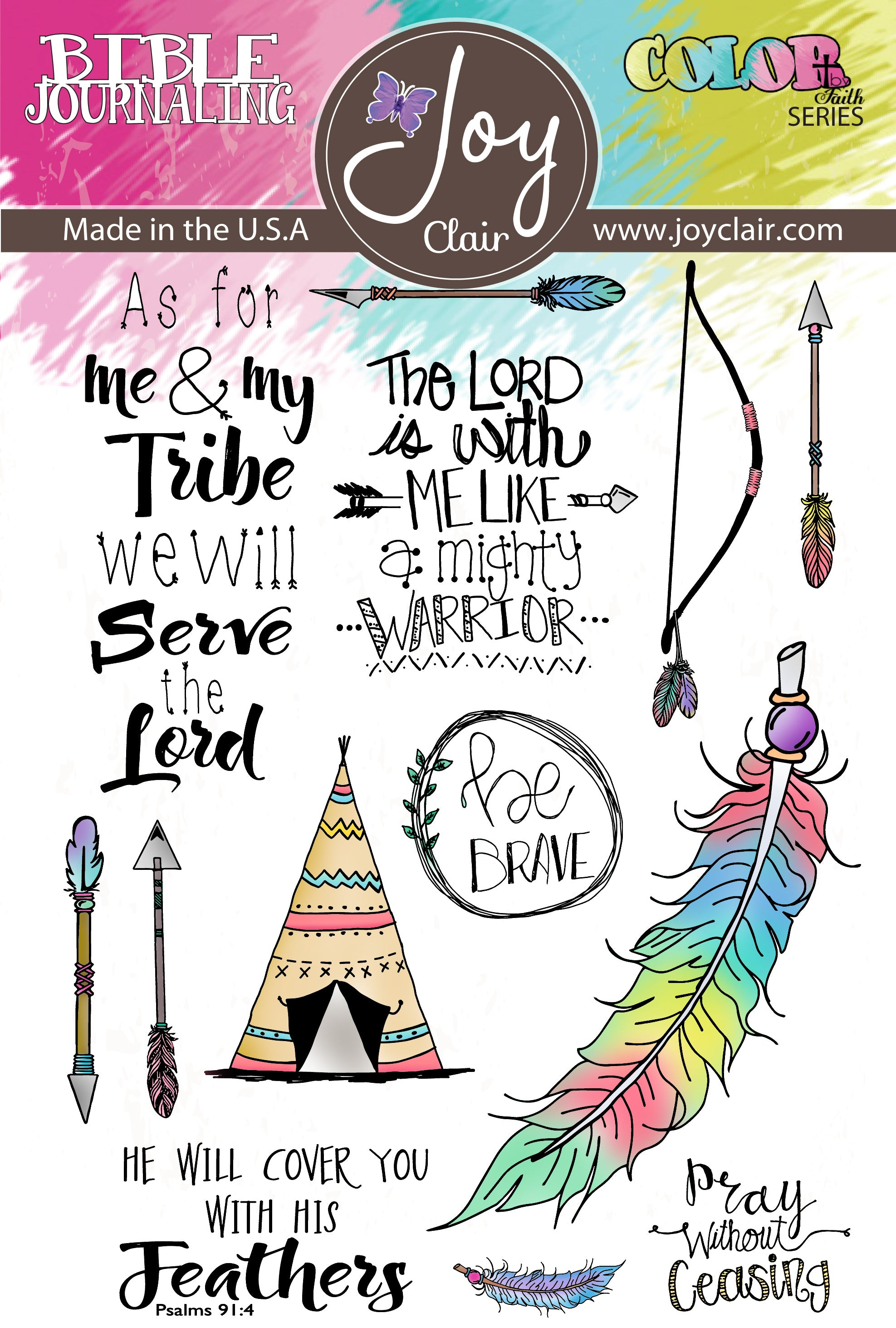 Be Brave | Bible Journaling Clear Stamps