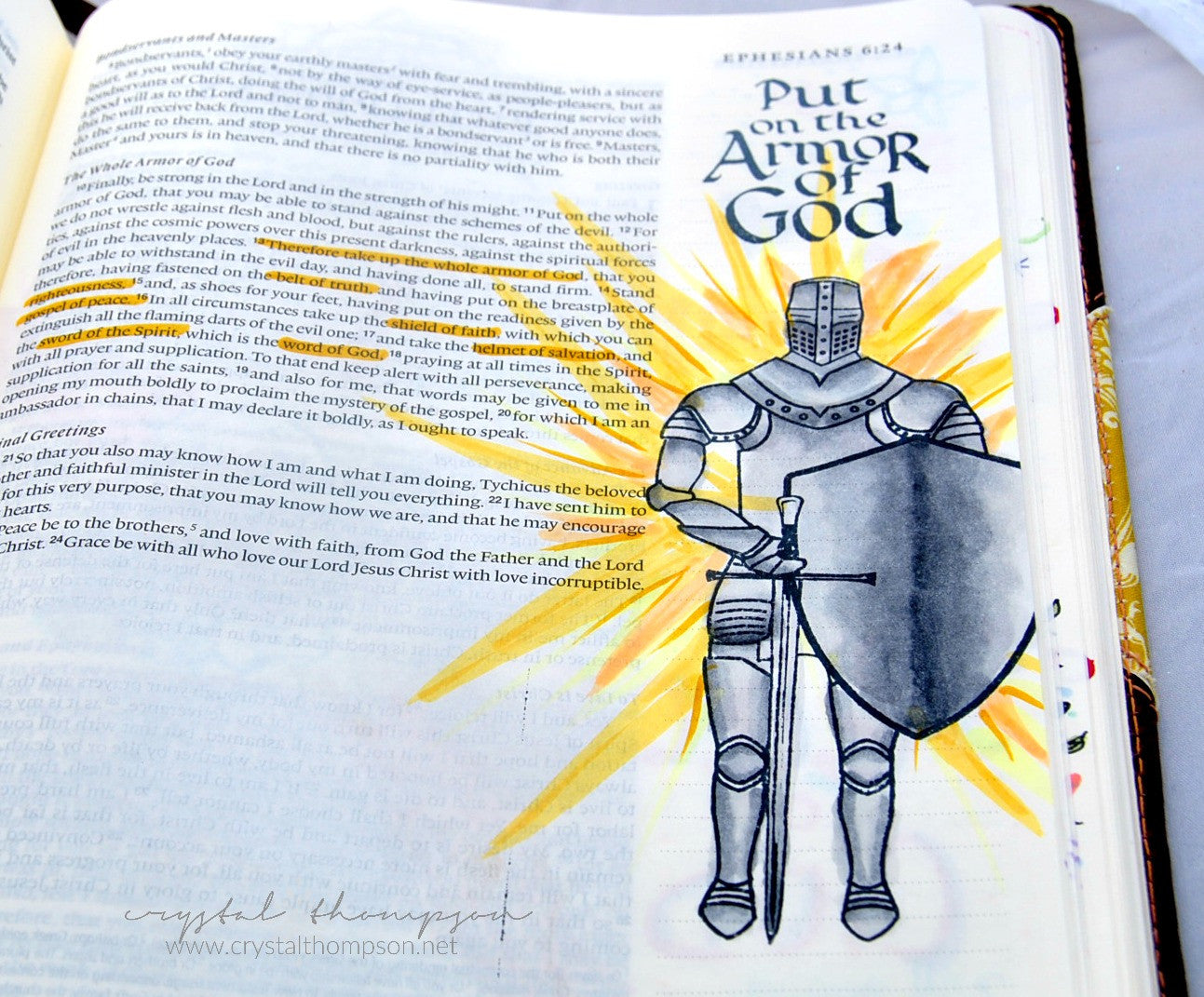 armor of god bible journaling clear stamps