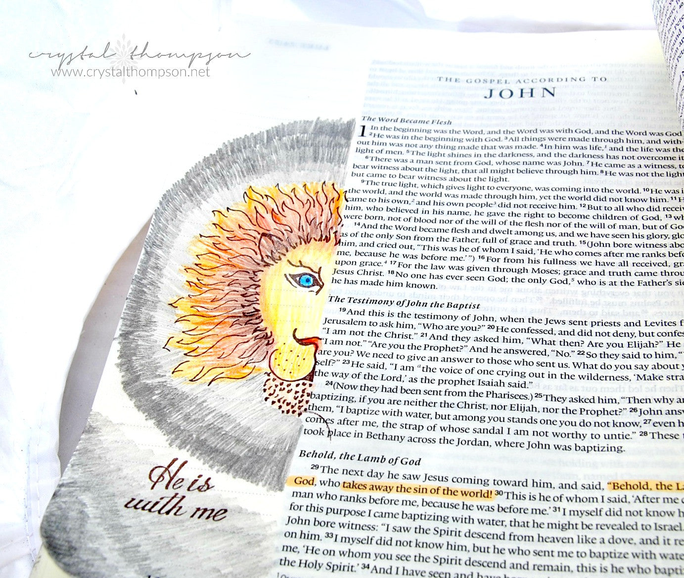 Clear Stamps - Lion and Lamb | Bible Journaling Clear Stamps - Joy Clair - 9